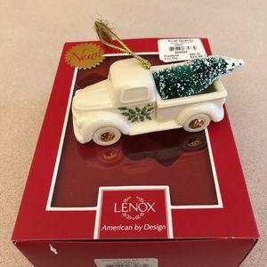 Lenox Holiday Truck w/ Tree Ornament